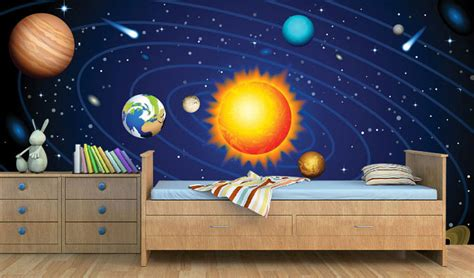 Space Theme Wallpaper For Kids Room