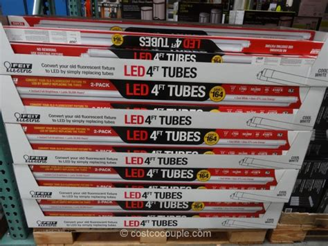 led tube lights costco feit electric led 4 ft tubes