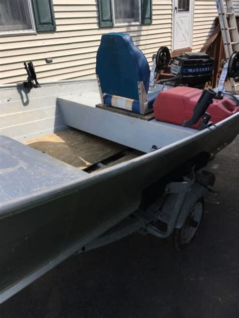 Aluminum Boats For Sale In Nj by 14 Ft Aluminum Boat And Trailer For Sale In South