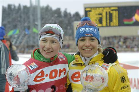 Darya Domracheva and Magdalena Neuner. Khanty-Mansiysk ...