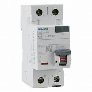 Disjoncteur Différentiel Type A : interrupteur diff rentiel siemens 63a 30ma type a ~ Dailycaller-alerts.com Idées de Décoration