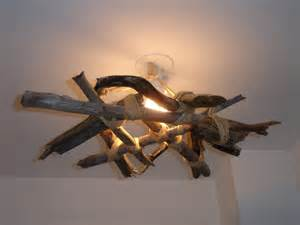 kikibricole lustre en bois flott 233