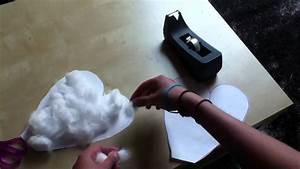 Herz Aus Papier Basteln : herz basteln herz aus papier und watte youtube ~ Lizthompson.info Haus und Dekorationen
