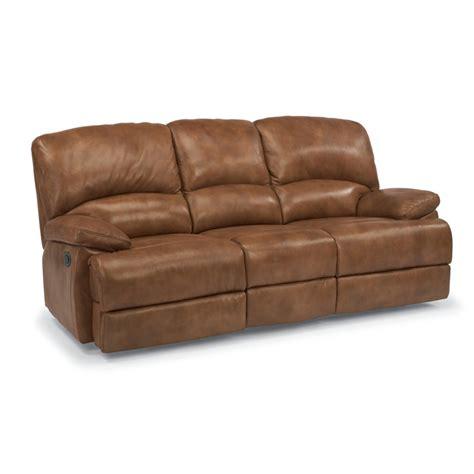 3 cushion leather sofa flexsteel 1927 63p dylan leather power three cushion