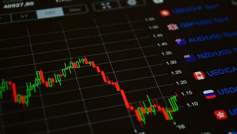 currency market trading stock market trend of animation stock footage