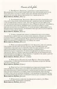 wedding mass program template quinceanera prayers of the faithful