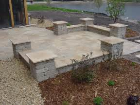 paver patio with retaining wall ideas modern patio outdoor