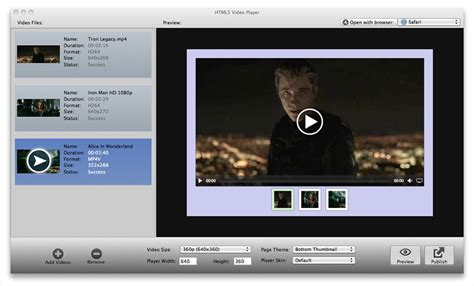 HTML5 Video Player 1.2 - Download for Mac Free