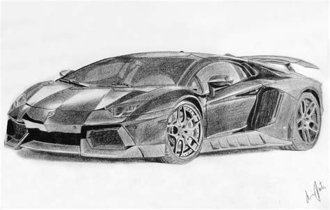 lamborghini sketch lamborghini aventador black and white drawing