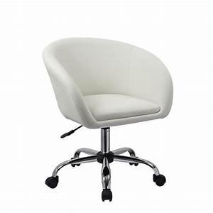 Chaise à Roulettes : fauteuil roulette tabouret chaise de bureau blanc bur09021 d coshop26 ~ Melissatoandfro.com Idées de Décoration