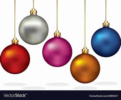 Hanging Christmas Ornaments Vector Thread Gold Coloring
