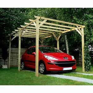 carport bois maranello 1 voiture 15 m2 leroy merlin With pergola de jardin leroy merlin 17 carport brico depot
