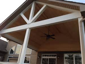 Lighting For Cathedral Ceilings Pictures by Open Covered Porches Dayton Amp Cincinnati Deck Porch
