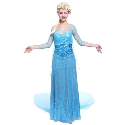 und elsa kostüm damen damen kost 252 m elsa prinzessin dress eisk 246 nigin f 252 r fasching ebay