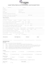 Laser Tattoo Removal Consultation and Consent Form