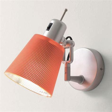 vendita applique applique il lola e27 metallo plexiglass arancio grigio