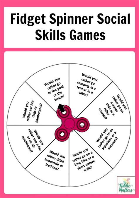 these fidget spinner social skills are great for