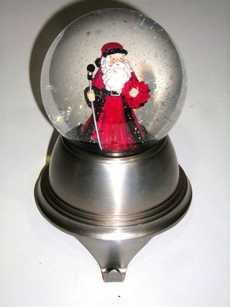 santa snow globe stocking holder 226 unique snowdomes