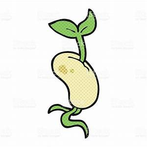 Cartoon Sprouting Seed stock vector art 520501056 | iStock