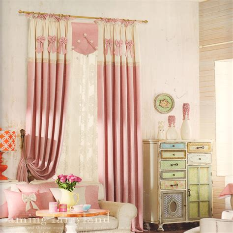 sweet pink color curtains for baby nursery