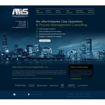 Best Webpages Web Page Design Contests 187 Mis Website It And