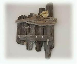 Porte Clé Mural Bois : porte cle en bois flott natydeco recup rons nos palettes pinterest ~ Nature-et-papiers.com Idées de Décoration