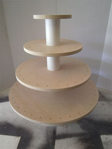 new item diy unfinished 4 tier round or square