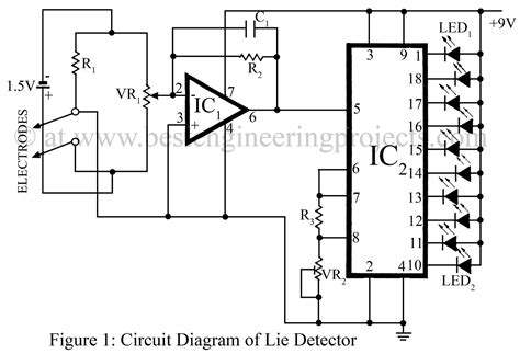 Simple Lie Detector Circuit Best Engineering Projects