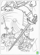 Coloring Pages Musketeers Three Dinokids Barbie Close sketch template