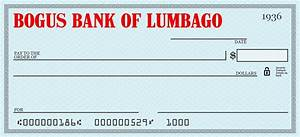 Lumbago at kipple for Joke cheque template