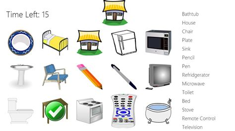 Match These Common Objects! Windows App