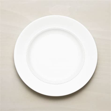 white pearl dinner plate crate  barrel