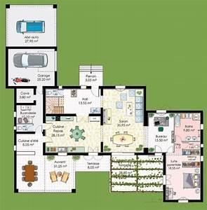 plan maison avec suite parentale plan maison avec suite With plan maison avec jardin interieur 8 une maison 224 la deco de luxe
