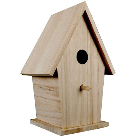artminds tall wood birdhouse