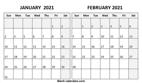 january february  calendar pinterest  printable