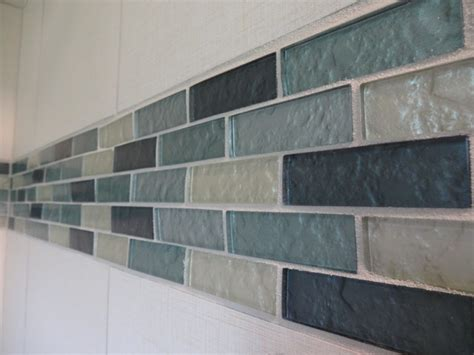 Linen Textured Tile And Glass Accent Shower Tile