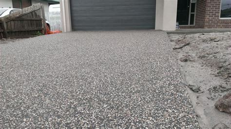 exposed aggregate driveway   my concrete   Pinterest