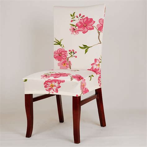 retro floral dining room wedding banquet elastic chair