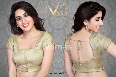 Decorative Wedding Plates by Buy X 144 Gold Readymade Designer Saree Blouse With Moti