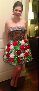 Crazy In Crafts DIY Ugly Christmas Dress