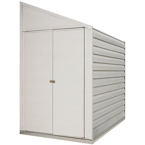 Metal Storage Shed Home Depot by Shop Arrow Galvanized Steel Storage Shed Common 4 Ft X