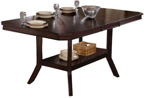 espresso counter height table bobbie dark espresso counter height dining table p832 12