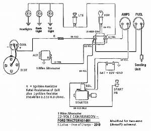 1956 Ford 800 Tractor Wiring Diagram