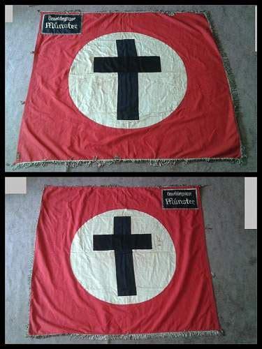 ww german flagstandarte city  munster christian flag