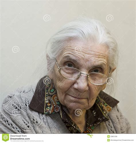 Old Lady Stock Photo. Image Of Woman, Pensioner, Portrait