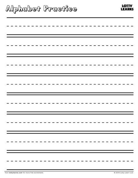 practice  perfect blank alphabet practice sheet