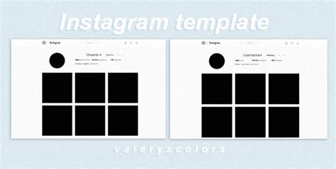 instagram grid template browse photoshop psd files resources stock images deviantart