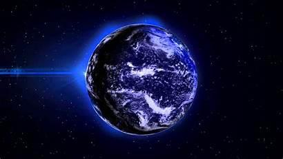 4k Animated Earth 3d Desktop Lights Background