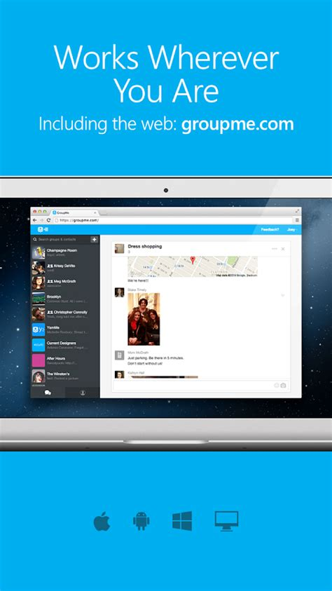 groupme apps android screenshot teams