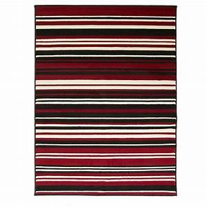 Tapis Noir Et Rouge : tapis noir et rouge canterbury flair rugs 160x220 ~ Dallasstarsshop.com Idées de Décoration